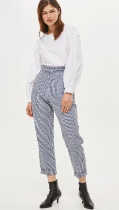 http://www.topshop.com/en/tsuk/product/clothing-427/trousers-leggings-4075710/ruffle-waist-gingham-trousers-6441847?bi=0&ps=20